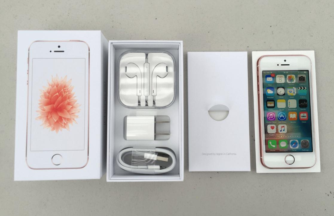 Apple iPhone SE kicsomagolva