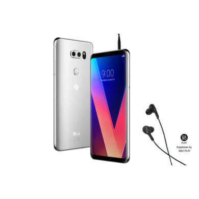 LG V30 telefon ezüst színben