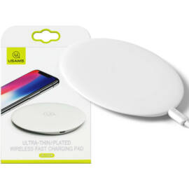 Usams CD24 Wireless vezetéknélküli gyorstöltő fehér