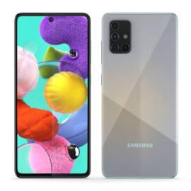 Samsung Galaxy A51, (A515) Dual Sim 128GB, ezüst, kártyaföggetlen, 1 év gyártói garancia