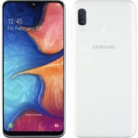 Samsung A20e A202 3GB Ram 32GB Dual SIM, fehér, Kártyafüggetlen, 1 év Gyártói garancia