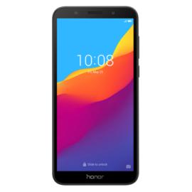 Honor 7S 16GB Dual SIM, fekete, Kártyafüggetlen, Gyártói garancia