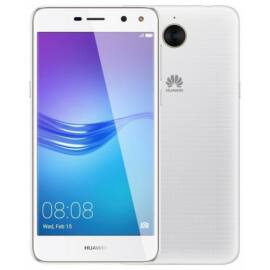 Huawei Y6 2017 16GB Dual SIM, fehér, Kártyafüggetlen,2 év  Gyártói garancia