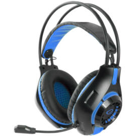 Esperanza Deathstrike Gamer mikrofonos fejhallgató, fekete-kék EGH420B