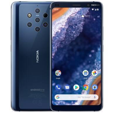 Nokia 9 PureView Dual Sim 128GB, kék, Kártyafüggetlen, 1 év gyártói garancia