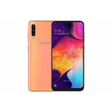 Samsung Galaxy A50, (A505) Dual Sim 128GB, Coral, 1 év gyártói garancia