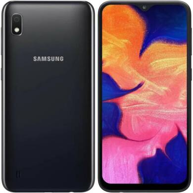 Samsung A10 A105 2GB Ram 32GB Dual, fekete, Kártyafüggetlen, 1 év gyártói garancia