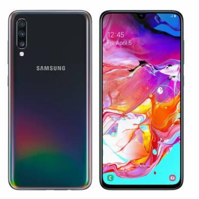 Samsung Galaxy A70 (2019) 6GB 128GB Dual SIM (B20), fekete, Kártyafüggetlen, 1 év teljes körű garancia