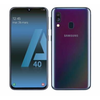 Samsung Galaxy A40 64GB Dual SIM A405, fekete, 1 év Gyártói garancia