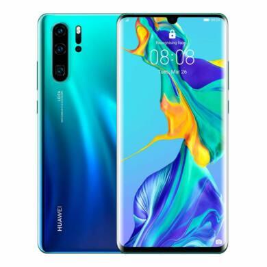 Huawei P30 Pro 128GB Dual SIM, aurora kék, Kártyafüggetlen, 2 év Gyártói garancia