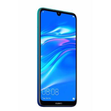 Huawei Y7 (2019) Dual SIM, kék, Kártyafüggetlen,2 év  Gyártói garancia