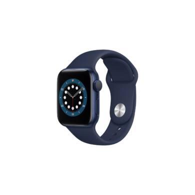 Apple Watch Series 6 GPS 44 mm kék alumínium, sötétkék sport szíjjal