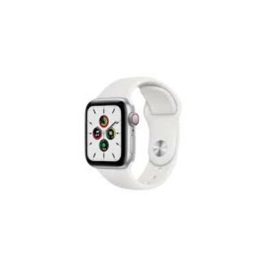 Apple Watch Series 6 GPS 40 mm ezüst alumínium, fehér sport szíjjal, 1 év gyártói garancia
