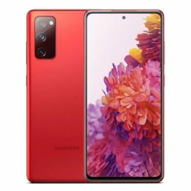 Samsung Galaxy G781B S20 FE 5G 128GB Dual Sim, ködös vörös, Kártyafüggetlen, 1 év gyártói garancia