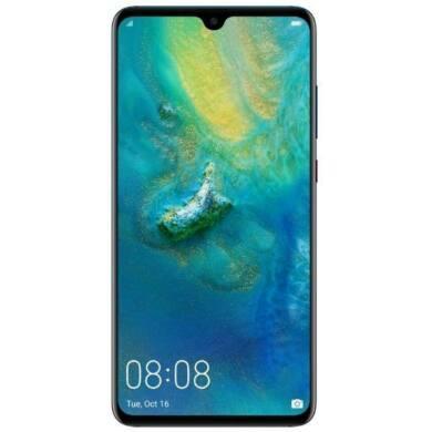 Huawei Mate 20 128G, fekete, Kártyafüggetlen,2 év Gyártói garancia