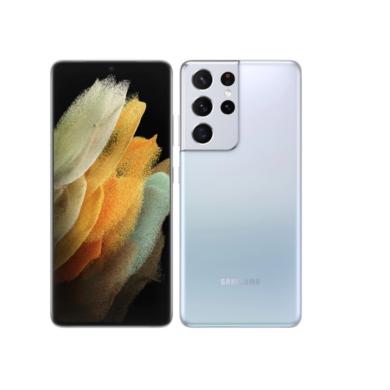 Samsung G998 Galaxy S21 Ultra 128GB Dual Sim, ezüst, Kártyafüggetlen