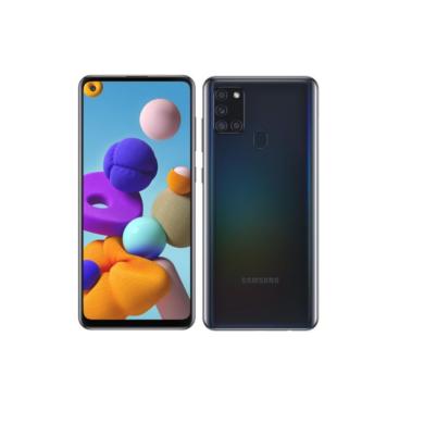 Samsung A217F Galaxy A21s Dual Sim 32GB, fekete, Kártyafüggetlen, 1 év Gyártói garancia