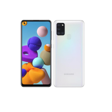 Samsung A217F Galaxy A21s Dual Sim 64GB, fehér, Kártyafüggetlen, 1 év Gyártói garancia