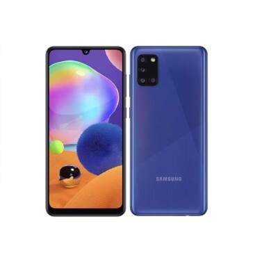 Samsung A315F Galaxy A31 Dual Sim 64GB, kék, Kártyafüggetlen, 1 év gyártói garancia