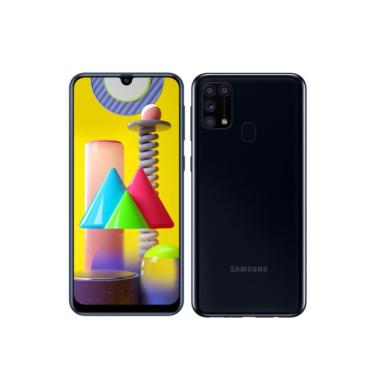 Samsung Galaxy M31 M315 Dual Sim 128GB fekete, kártyafüggetlen, 1 év Gyártói garancia