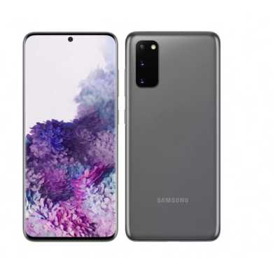 Samsung G986B Galaxy S20+ 5G 128GB  12GB Dual Sim, kozmosz szürke, Kártyafüggetlen, 1 év gyártói garancia