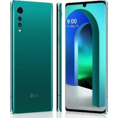 LG Velvet 5G 128GB Dual Sim, zöld, Kártyafüggetlen, 1 év gyártói garancia