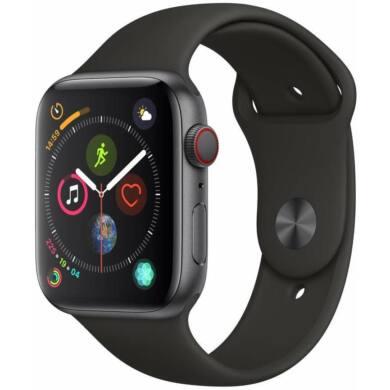 Apple Watch Series 5 GPS 40mm asztroszürke alumínium tok fekete sportszíjjal, 1 év gyártói garancia