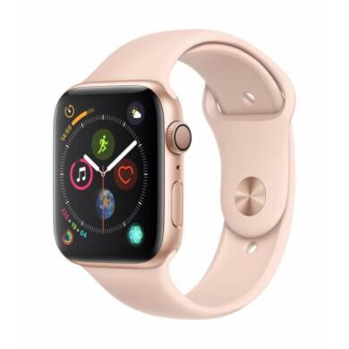 Apple Watch Series 5 GPS 40mm arany alumínium tok rózsaszín sportszíjjal, 1 év gyártói garancia