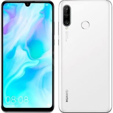 Huawei P30 Lite 128GB Dual SIM, fehér, Kártyafüggetlen, 2 év Gyártói garancia