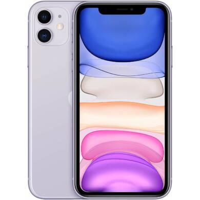 Apple Iphone 11 128GB lila, kártyafüggetlen, 1 év gyártói garancia