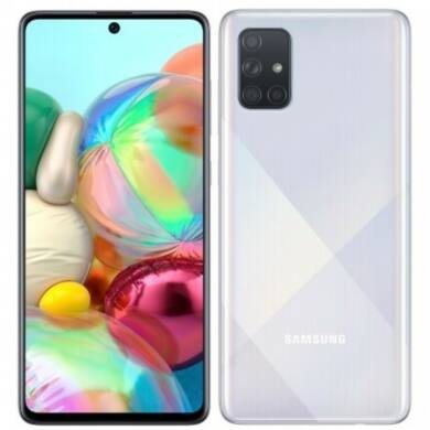 Samsung Galaxy A71, (A715) Dual Sim 128GB, ezüst, kártyafüggetlen, 1 év gyártói garancia