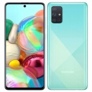 Samsung Galaxy A71, (A715) Dual Sim 128GB, kék, kártyafüggetlen, 1 év gyártói garancia