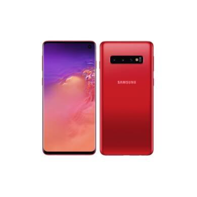 Samsung G975F Galaxy S10 + 128GB Dual Sim, piros, Kártyafüggetlen, 1 év Gyártói garancia