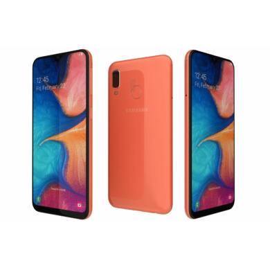 Samsung A20e A202 3GB Ram 32GB Dual SIM, coral, Kártyafüggetlen, 1 év Gyártói garancia