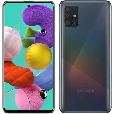 Samsung Galaxy A51, (A515) Dual Sim 128GB, fekete, kártyafüggetlen, 1 év gyártói garancia