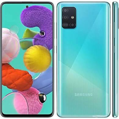 Samsung Galaxy A51, (A515) Dual Sim 128GB, kék, kártyaföggetlen, 1 év gyártói garancia