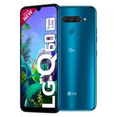 LG Q60 Dual-SIM 64GB kék, kártyafüggetlen, 1 év gyártói garancia