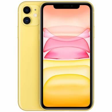 Apple Iphone 11 128GB sárga, kártyafüggetlen, 1 év gyártói garancia