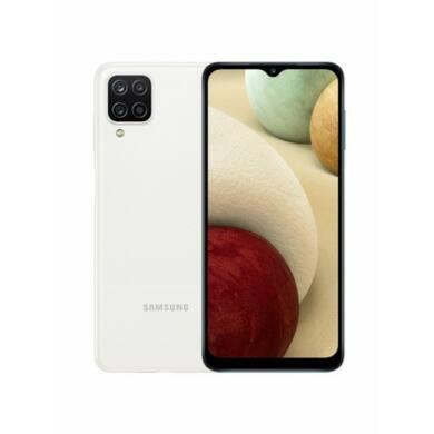Samsung A12 A125 4GB Ram 128GB Dual, fehér, Kártyafüggetlen, 1 év gyártói garancia