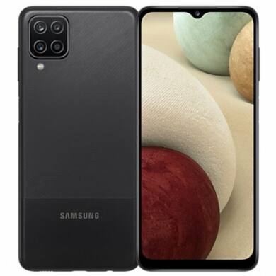 Samsung A12 A125 4GB Ram 64GB Dual, fekete, Kártyafüggetlen, 1 év gyártói garancia