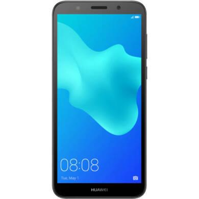 Huawei Y5 (2018) 16GB Dual SIM, fekete, Kártyafüggetlen,2 év  Gyártói garancia
