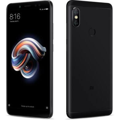 Xiaomi Redmi Note 5 (2018) 4GB 64GB Dual SIM (B20), fekete, Kártyafüggetlen, 1 év Gyártói garancia
