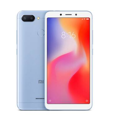Xiaomi Redmi 6 3GB 32GB Dual SIM (B20), kék, Kártyafüggetlen, 1 év teljes körű garancia