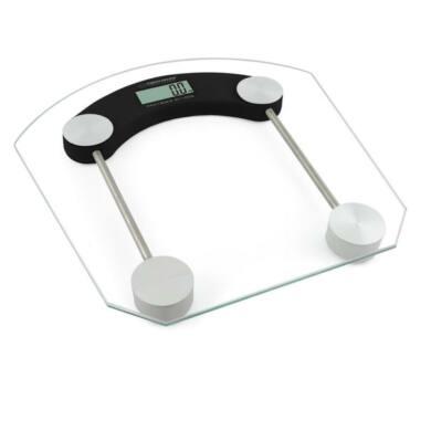 Esperanza Pilates digitális fürdőszobai személyi mérleg EBS008K, fekete