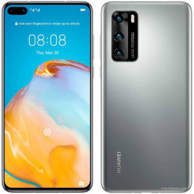 Huawei P40 128GB  Dual SIM, ezüst, Kártyafüggetlen, 2 év Gyártói garancia