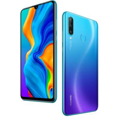 Huawei P30 Lite 256GB Dual SIM, kék, Kártyafüggetlen, 2 év Gyártói garancia