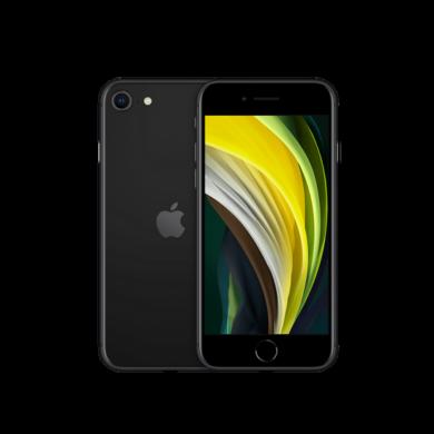 Apple iPhone SE 2020 128GB fekete, kártyafüggetlen, 1 év Gyártói garancia
