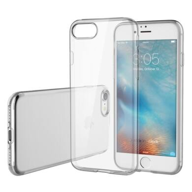 Apple iPhone 6 / 6S, extra vékony szilikon tok, átlátszó