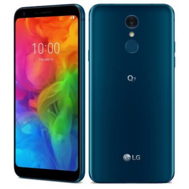 LG Q7 LMQ610 32GB Dual SIM, kék, Kártyafüggetlen, 1 év Gyártói garancia