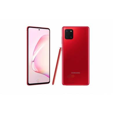 Samsung Galaxy Note 10 Lite N770F Dual SIM, 128GB, piros, Kártyafüggetlen, 1 év Gyártói garancia